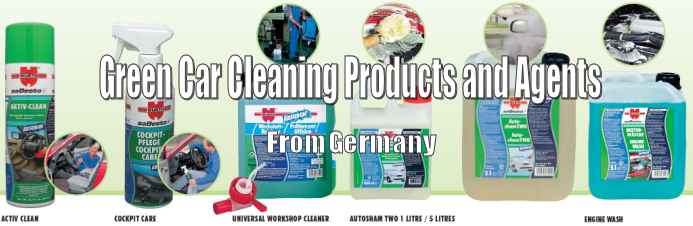 Geran green car cleaning products